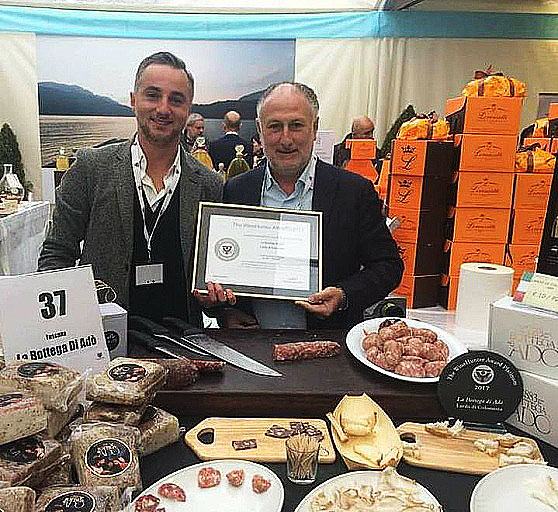 Il lardo Igp di Adò vince il premio Platinum al Merano Wine Festival
