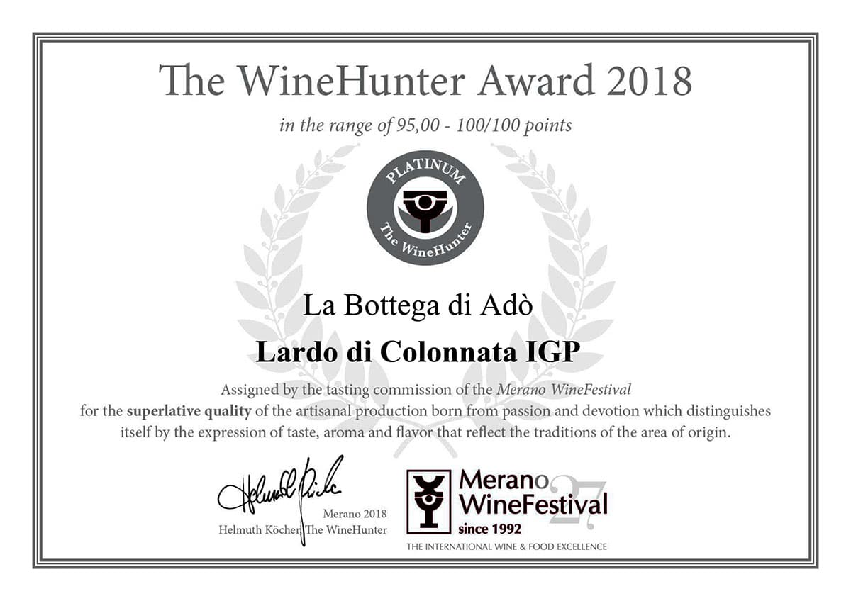 The WineHunter Award Platinum